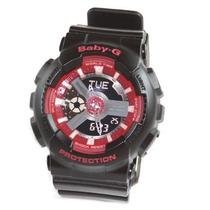 Reloj Casio Baby G Ba-110sn-1 W Time Wr100m 5 Alarmas