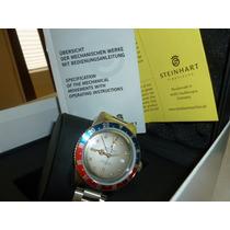 Reloj Steinhart Gmt Dual Time Vintage Premium Pepsi Cola