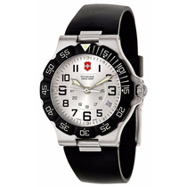 Reloj Victorinox Summit Xlt Caucho Negro Plateado 241345