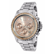 Reloj Michael Kors Mk5870 Crono Acero Baguettes Ambar Dama