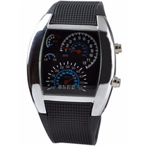 Reloj De Leds Aviation Motivo Odometro De Auto