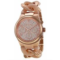 Reloj Michael Kors Original Nuevo Rose Gold Con Estuche Mk