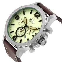 Reloj Crono Fossil Caballero Café Nuevo (modelo Jr1496)