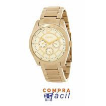Fossil Brenna Bq1554 Dorado Multifuncional Diamentro 37mm