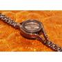 Reloj Bronce Y Detalles En Correa Incrustaciones R12