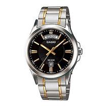 Reloj Casio Caballero Mtp1381g - 1av Analogo 100% Original