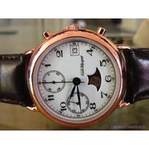 Emile Pequignet Chronograph Moonphase Rose Gold Capped