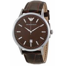 Reloj Emporio Armani Acero Inoxidable Piel Cafe Ar2413