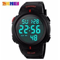 Reloj Skmei Negro Con Rojo Digital 50 Mts Caballero
