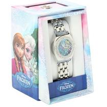 Frozen Reloj Para Dama De Elsa Con Cristales Disney Original