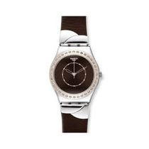 Swatch Irony Botanicus Flor Brown Dial Señoras Reloj De Cue