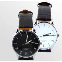 Reloj Pulso Hombre Inoxidable, Color Blanco / Negro.
