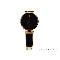 Reloj Anne Klein 1414 Negro Con Dorado