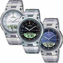 Reloj Casio Aw80 Metal Cronometro Contra Agua 30mem Luz Idd