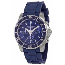 Reloj Victorinox Maverick Cronógrafo Caucho Azul 241690