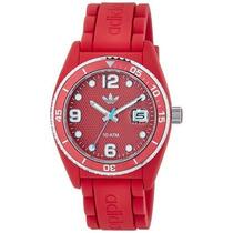 Reloj Adidas Brisbane Unisex Adh6152- Rojo