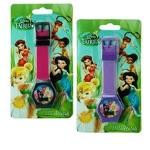 Disney Fairies Tinkerbell Reloj Digital En La Tarjeta De La