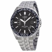 Reloj Citizen Eco-drive Atómico Crono Acero Cb0020-50e