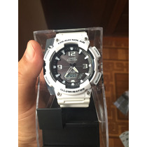Reloj Casio Tough Solar Aqs810wc7 Blanco