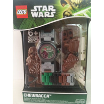Reloj De Mano Lego Chewbacca Con Figura Para Armar