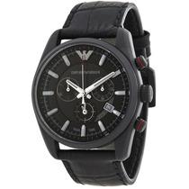 Reloj Emporio Armani Sportivo Chrono Piel Negra Ar6035