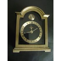 Fino Reloj De Mesa Marca Swiza, Bronce Sólido. Swiss Made.