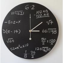 Reloj De Pared Matemático Ii