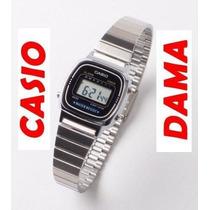 Reloj Casio Retro De Dama La 670 Vintage Plateado Original
