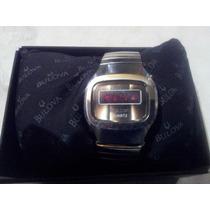 Reloj De Pulsera Vintage Bulova Quartz Led