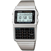 Reloj Casio Retro Dbc 611 Plateado Data Bank 25 Memorias Luz
