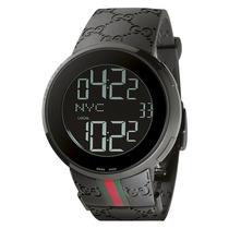 Reloj Para Hombre Gucci Ya114207 Digital Doble Tiempo Pm0