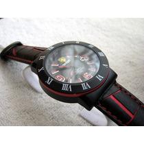 Moderno Reloj Ferrari Piel Fechador Negro Subasta 1 Peso