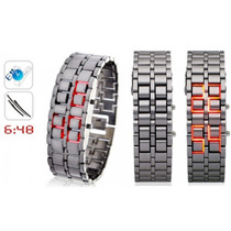 Reloj Led Digital Lava Iron Samurai Japones De Acero Unisex