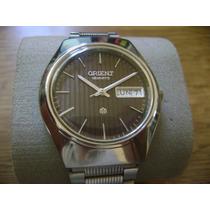 Bonito Reloj Orient Quartz ... Todo De Acero Inoxidable.