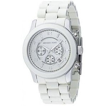 Reloj Michael Kors Hombre Blanco Con Cronografo!! Mk8108