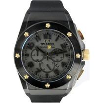 Reloj Tw Steel Ceo Rf1 Negro Tw683, Caucho, Garantia Hm4