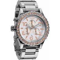 Reloj Nixon 42 20 Acero Rosa Crono A037-1519 Garantia