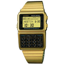 Reloj Casio Retro Dbc 611 Dorado Data Bank 25 Memorias Luz