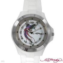 Reloj Ed Hardy Christian Audiger, Acero Y Poliuretano D Sp0