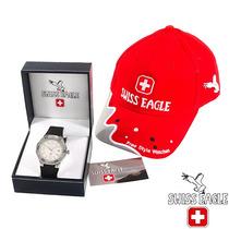 Exclusivo Reloj Hanowa Swiss Eagle Hombre, Acero Y Goma Sp0