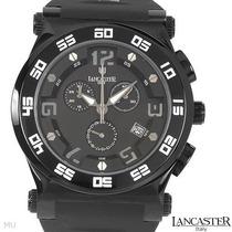 Reloj Lancaster Hombre, Cronógrafo, Acero Poliuretano 4 Vmj