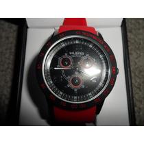 Reloj Marca Unlisted Kenneth Cole Rojo Estilo Aviador Vbf