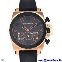 Reloj Acquatech Italiano Hombre, Automatico Acero Caucho Sp0