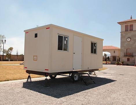 remolque nuevo oficina movil camper cabina 6 mts caseta