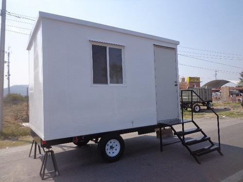 Remolque tipo oficina movil 4 mts camper cabina obra en for Oficinas moviles