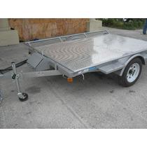 Remolque Plataforma Para 2 Cuatrimotos Grandes Camionetas