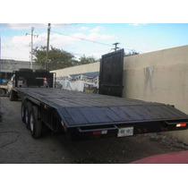 Remolque Cuello De Ganzo Retroexcavadoras Maquinaria Camion