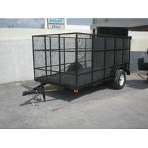 Remolque Jaula Camioneta Camion Cuatrimoto Plataformagokart
