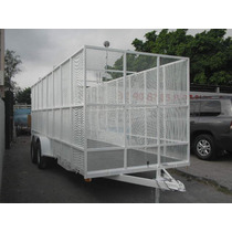 Remolque Jaula Malla Reciclaje Camionetas Camiones Pet