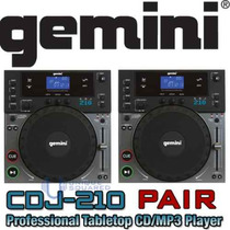 Gemini Cdj-210 Reproductor Cd-mp3 2 Pzas Par